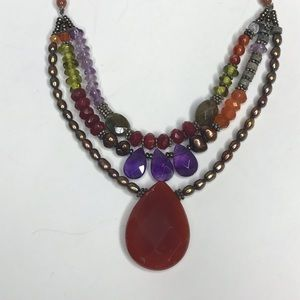 Talbots Set Necklace & Bracelet Semi-Precious